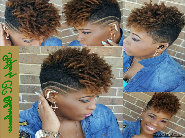 Short Tapered Natural Black Hairstyles 8