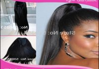 Drawstring Ponytail Hairstyles For Black Hair 3