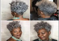 Short Tapered Natural Black Hairstyles 13