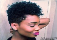 Short Tapered Natural Black Hairstyles 5