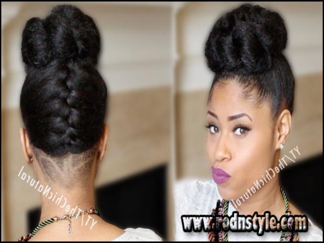 African American Hair Bun Hairstyle 12