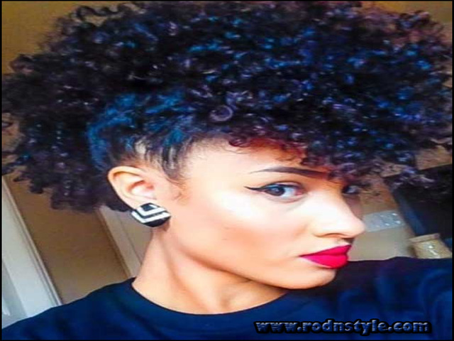 Black Short Curly Weave Hairstyles 3