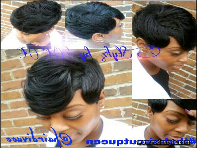 Black Short Quick Weave Hairstyles 1