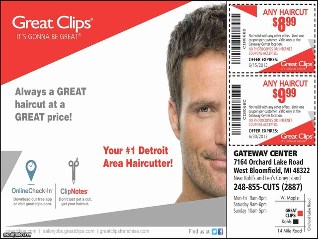 Great Clips $7.99 Haircut 10