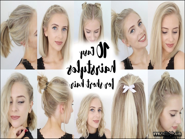 Hairstyles For Shorter Hair 0