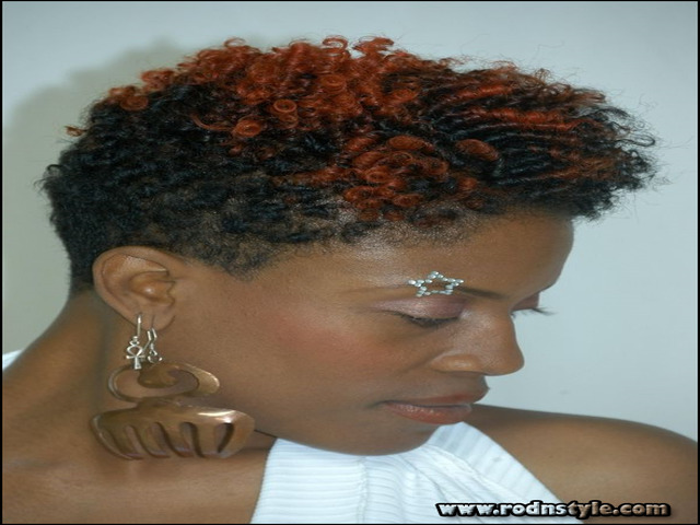 Short Natural Hairstyles With Color 13