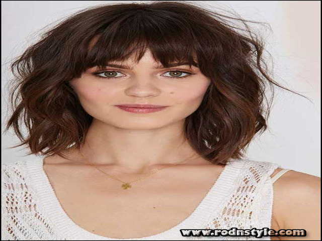 Short To Medium Hairstyles With Bangs 1