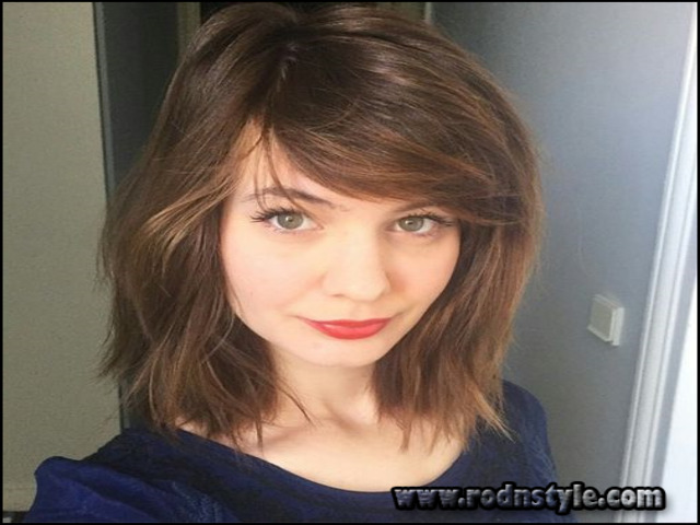 Short To Medium Hairstyles With Bangs 5