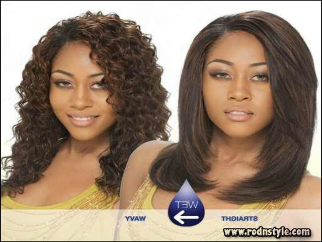 Wet And Wavy Weave Hairstyles Photo Gallery 6