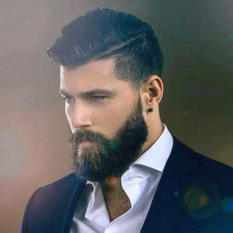 Latest-MenS-Hairstyle-With-Beard Latest Men'S Hairstyle With Beard