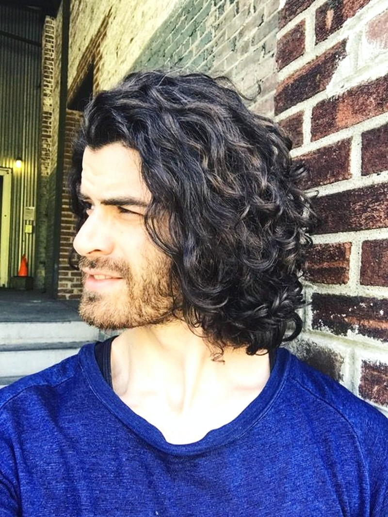 Man-Long-Curly-Hairstyle Man Long Curly Hairstyle