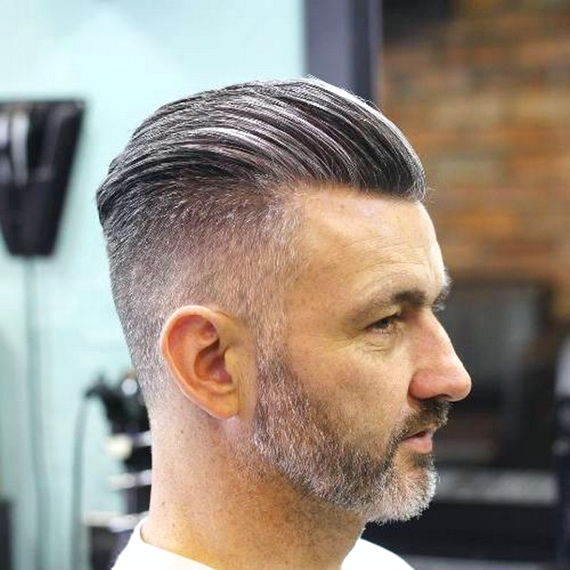MenS-Haircut-Slicked-Back-Short-Sides Men'S Haircut Slicked Back Short Sides