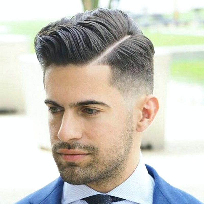 MenS-Hairstyle-Fade-Side-Part Men'S Hairstyle Fade Side Part