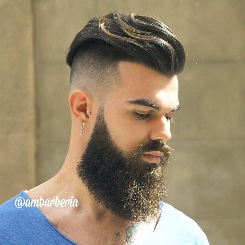 MenS-Undercut-Haircut-With-Beard Men'S Undercut Haircut With Beard