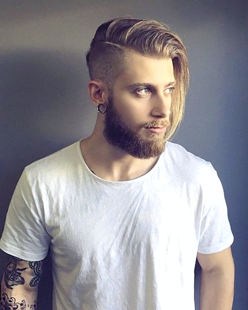 Mens-Haircut-Shaved-Sides-Medium-Top Mens Haircut Shaved Sides Medium Top