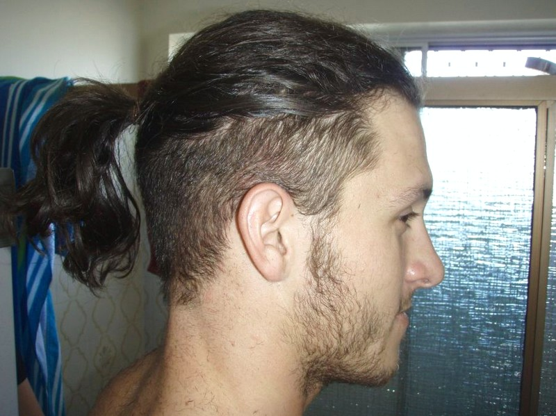 Mens-Haircut-Short-On-Sides-Ponytail-On-Top Mens Haircut Short On Sides Ponytail On Top