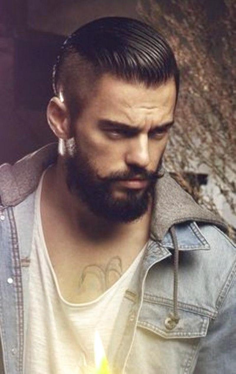 Mens-Haircut-Short-Sides-Long-Top-Slicked-Back Mens Haircut Short Sides Long Top Slicked Back