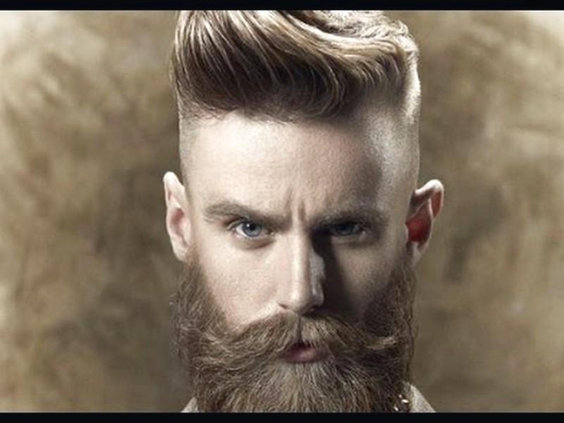 Mens-Haircut-Short-Sides-Long-Top-With-Beard Mens Haircut Short Sides Long Top With Beard